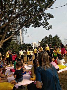Educadoras realizaram evangelização com crianças por meio de peça teatral