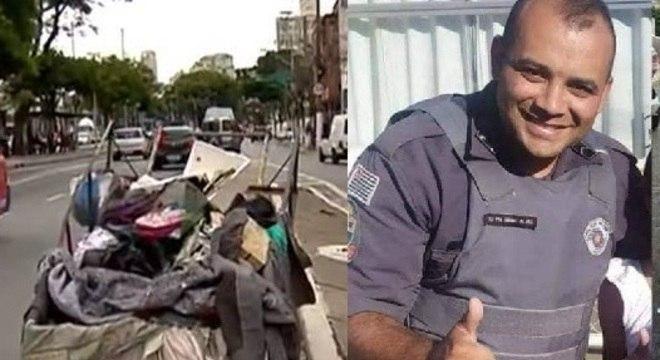Polícia investiga morte de PM achado em carroça no centro de SP