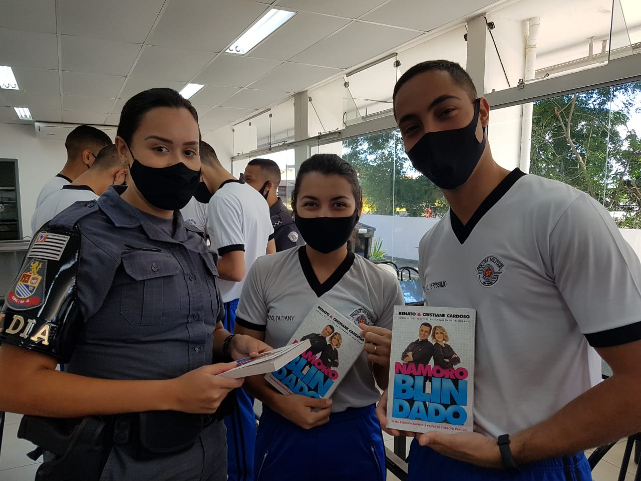 Palestra Namoro Blindado aos alunos soldados da Polícia Militar de São Paulo