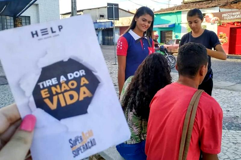 FJU realiza ação contra o suicídio na cidade de Horizonte, no Ceará