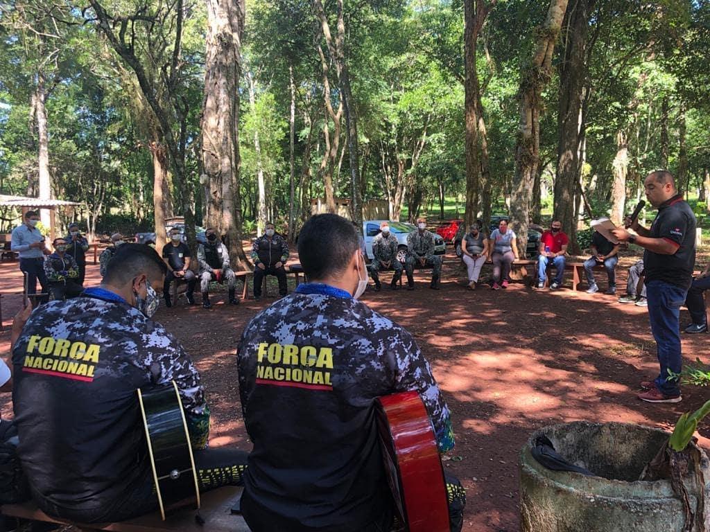 UFP realiza momento de reflexão com agentes da Força Nacional de Foz de Iguaçu