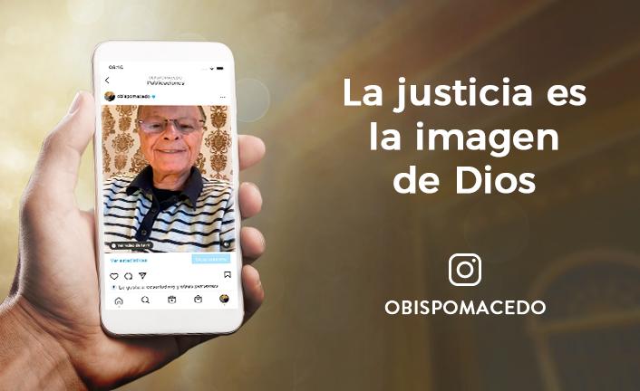 La justicia es la imagen de Dios