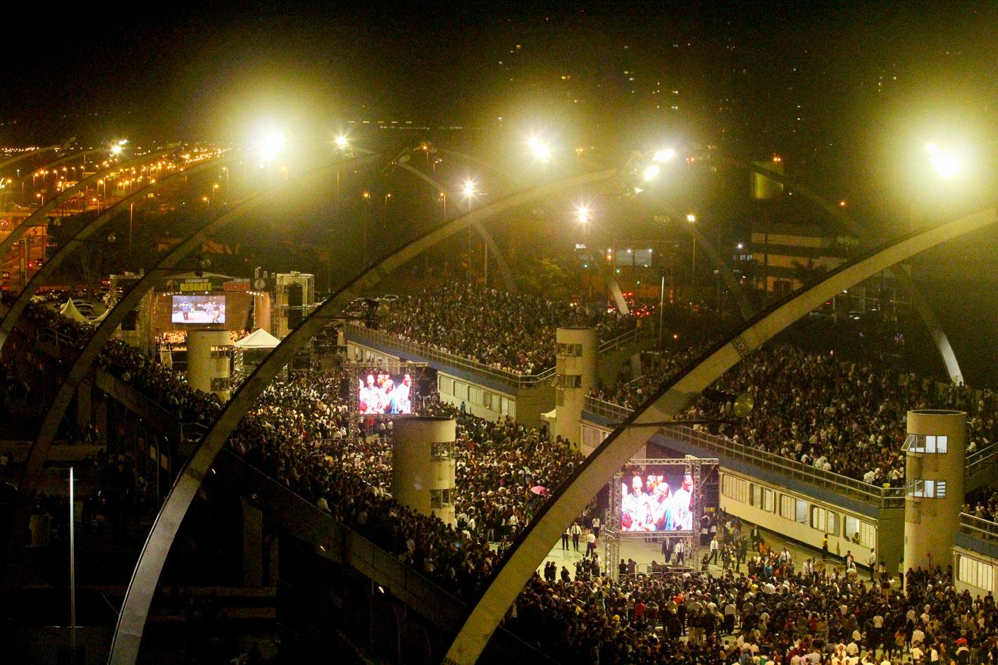 Caravana do Resgate e Cura dos Vícios no Sambódromo de São Paulo