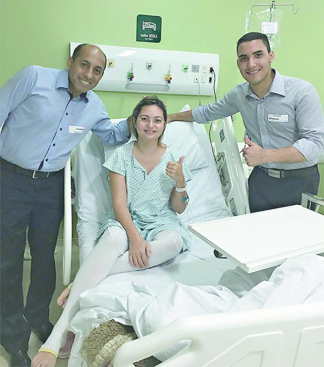 Ela venceu uma infecção hospitalar