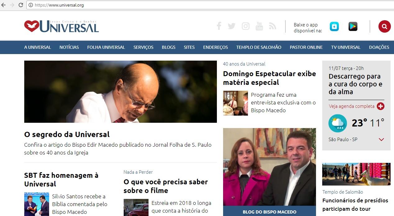 Universal recebe homenagens pelo Brasil e pelo mundo