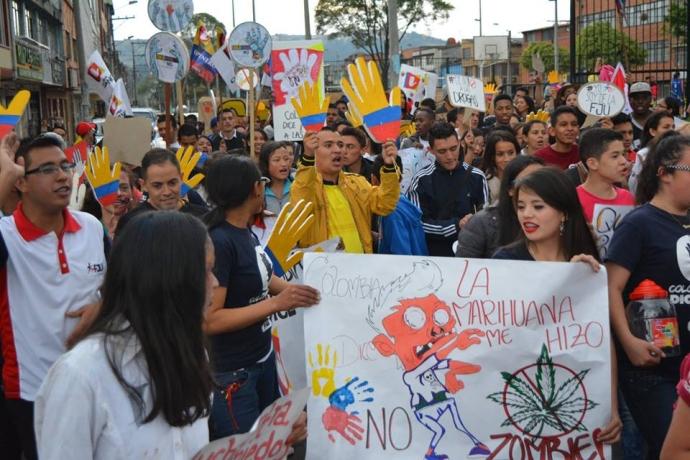 Colômbia diz não para as drogas