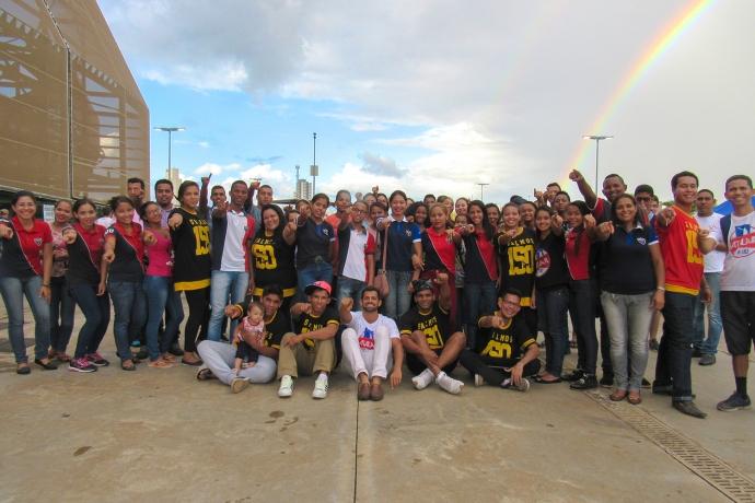 Força Jovem realiza FlashMob em frente à Arena Pantanal, em Cuiabá1 min read