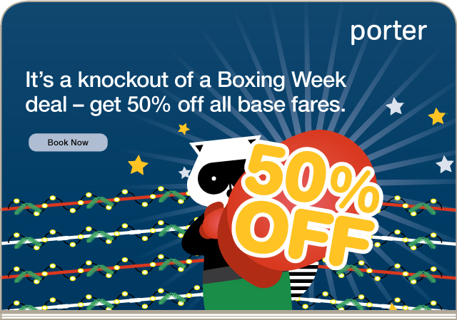 Half off from Porter Air