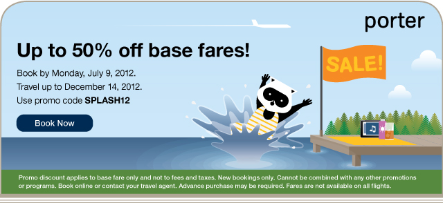 Book before 11:59p.m. on July 9, 2012. For travel up to December 14, 2012. Use code SPLASH12