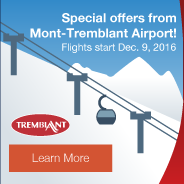 Special offers from the Mont-Tremblant Airport! Service begins Dec. 9, 2016. Learn More