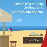 Cheers to our sunny destination in Orlando-Melbourne. Book Now.