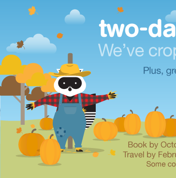 We ve cropped our fares! Two day sale. Book by Friday, October 21, 2016. Travel by February 15 2017. Find Best Fares.