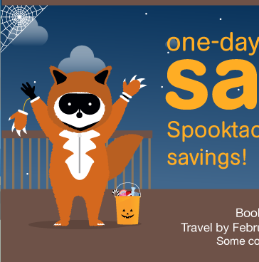 Spooktacular savings! One-day sale. Book by midnight tonight! Travel by February 15, 2017. Find Best Fares.