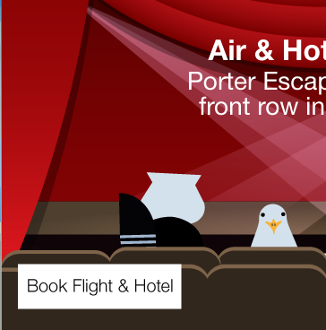 Porter Escapes puts you front row in a new city.