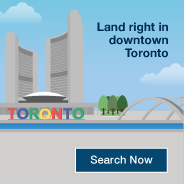 Land right in downtown Toronto. Search Now.