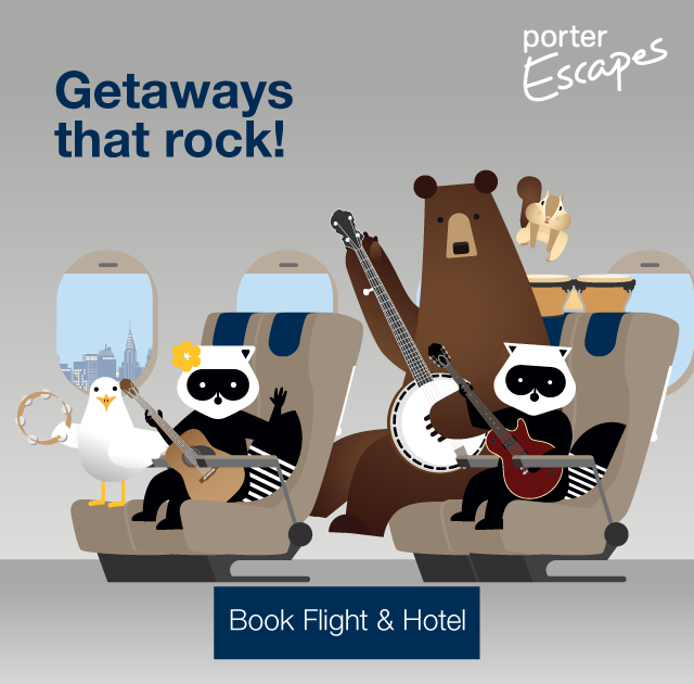 Getaways that rock! Book flight and hotel.