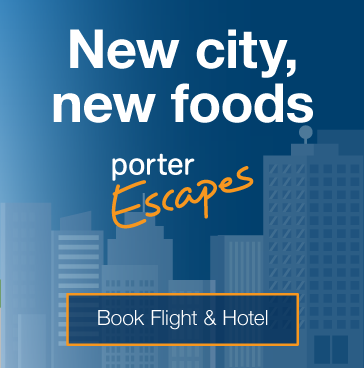 New city, new foods. Book flight and hotel.