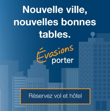 Nouvelle ville, nouvelles bonnes tables. Réservez vol et hôtel.