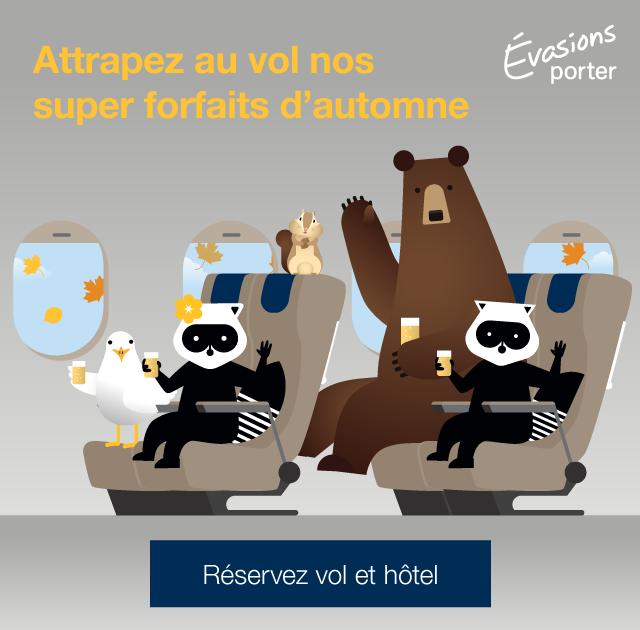 Attrapez au vol nos super forfaits d automne. Réservez vol et hôtel.