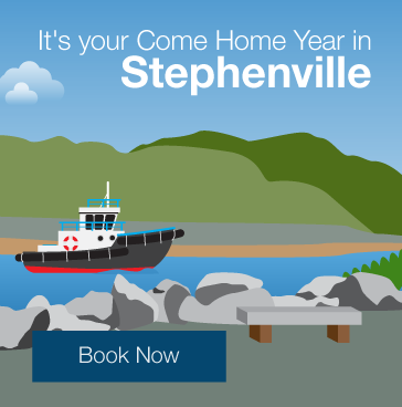 It's your Come Home Year in Stephenville. Book now.
