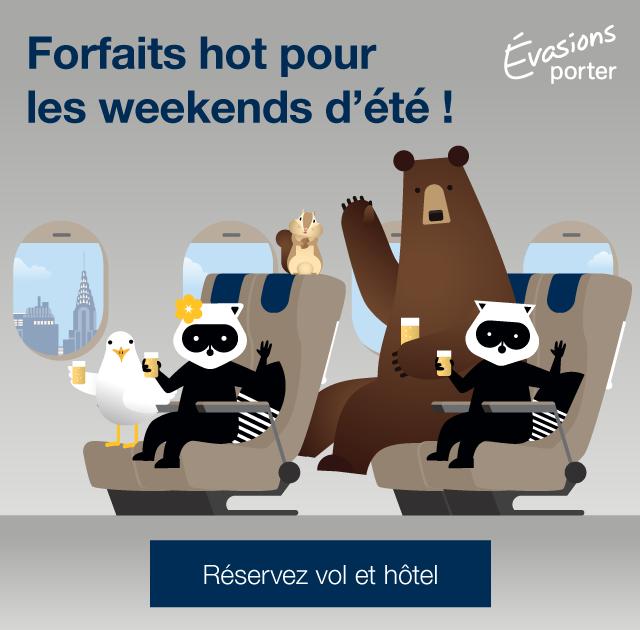 Forfaits hot pour les weekends d été ! Réservez vol et hôtel.
