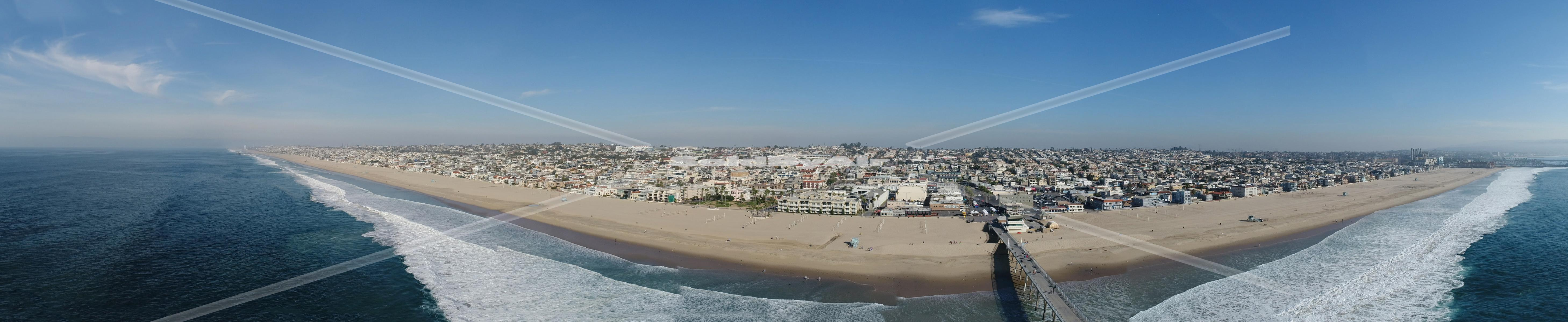 Drone Photo of Aerial Panorama in Hermosa Beach California