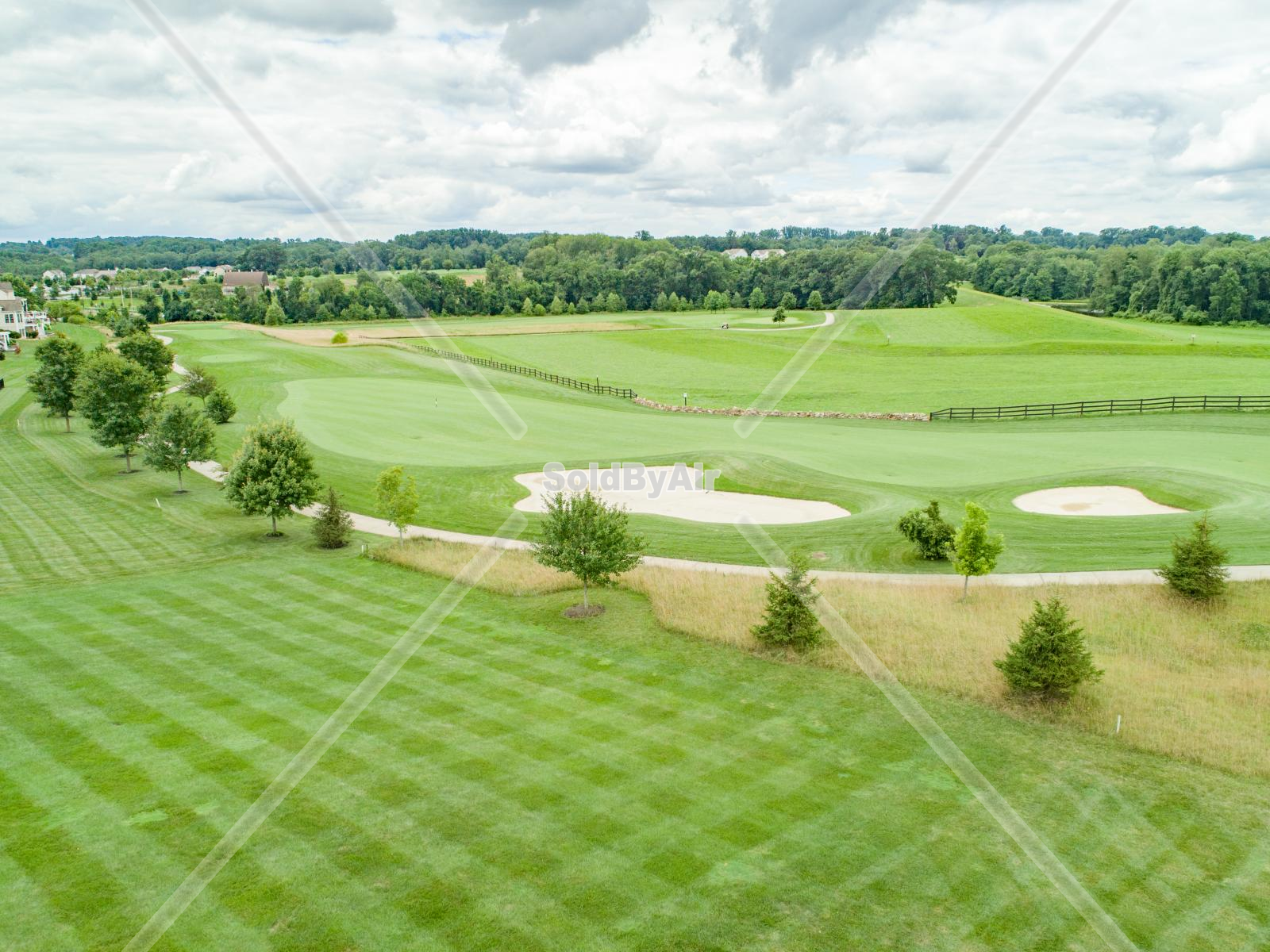 Drone Photo of Applecross Country Club in Downingtown Pennsylvania