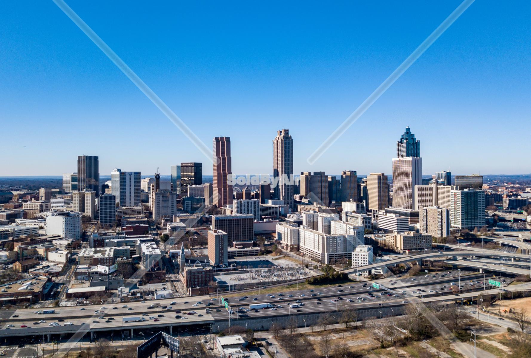 Drone Photo of Atlanta Skyline in Atlanta Georgia