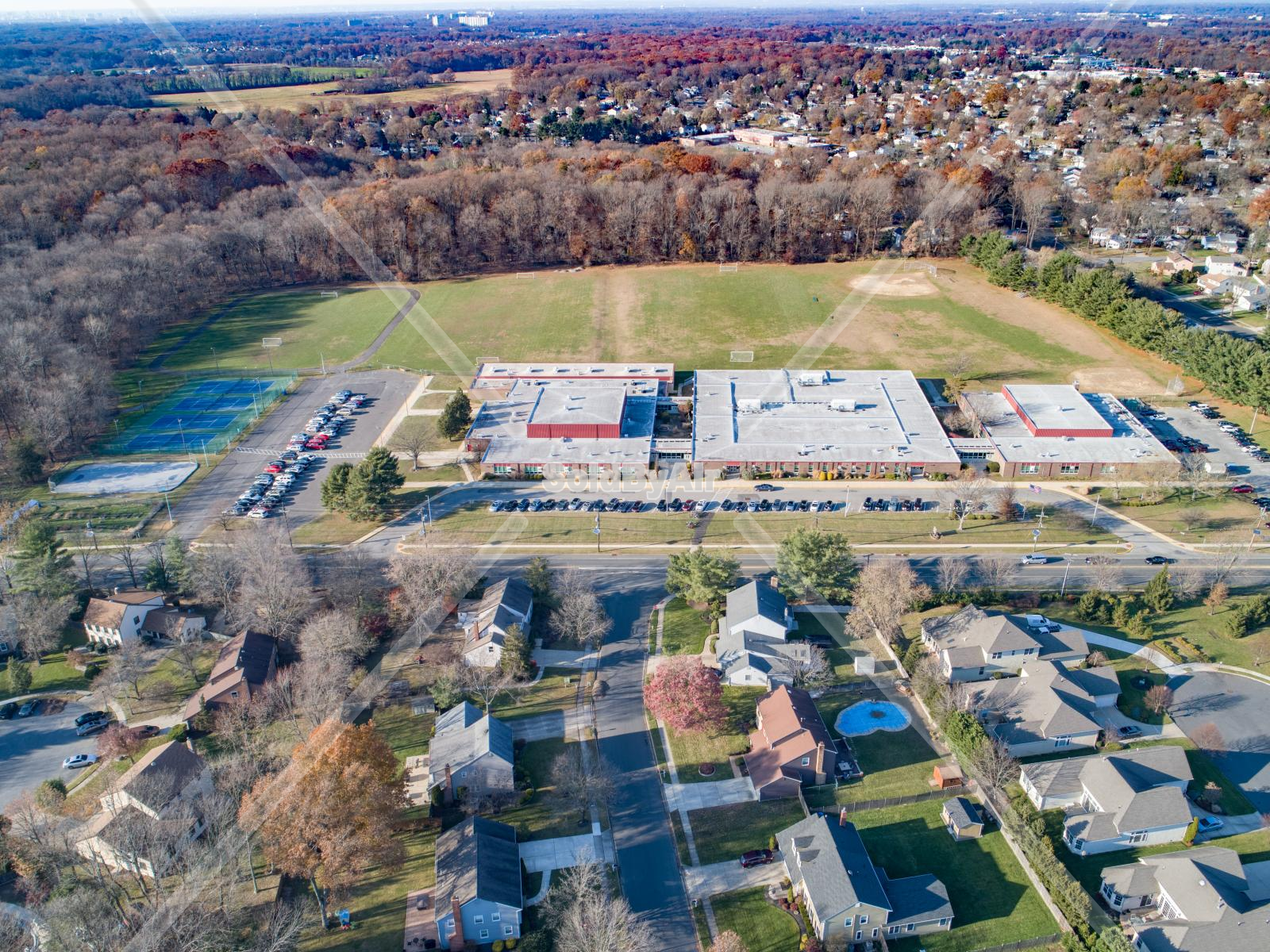 Drone Photo of Becks Middle School in Cherry Hill New Jersey