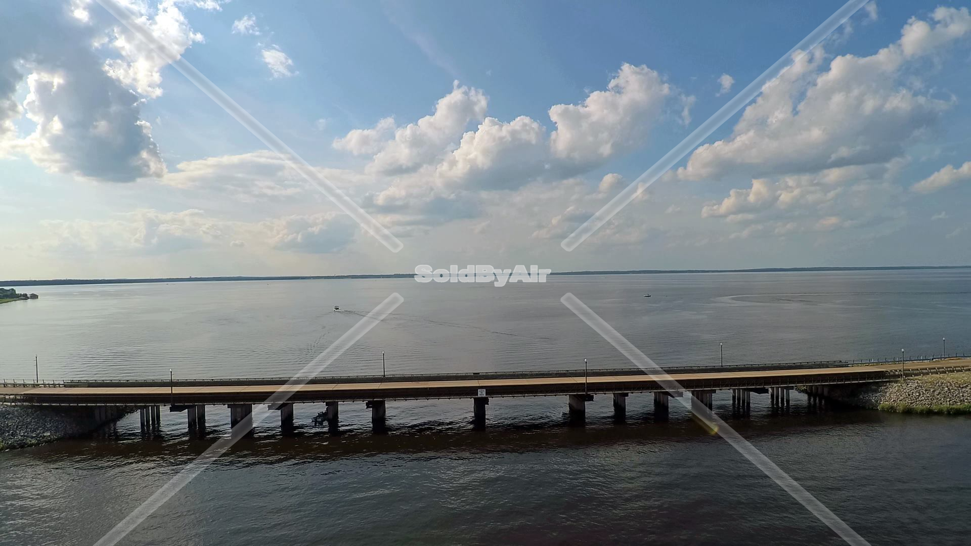 Drone Photo of Causeway  in Brandon Mississippi