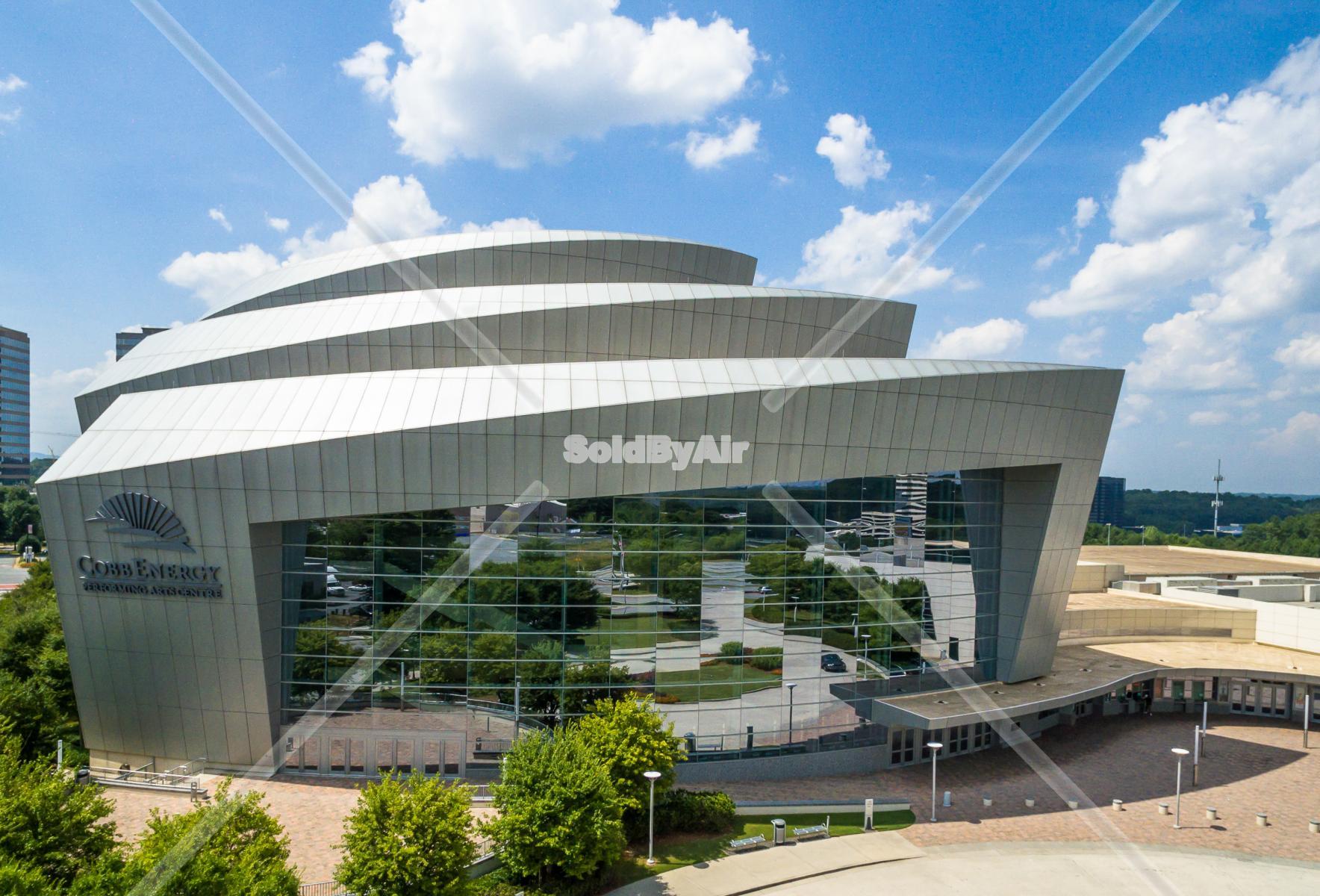 Drone Photo of Cobb Energy Performing Arts Centre, Cobb Galleria  in Atlanta Georgia