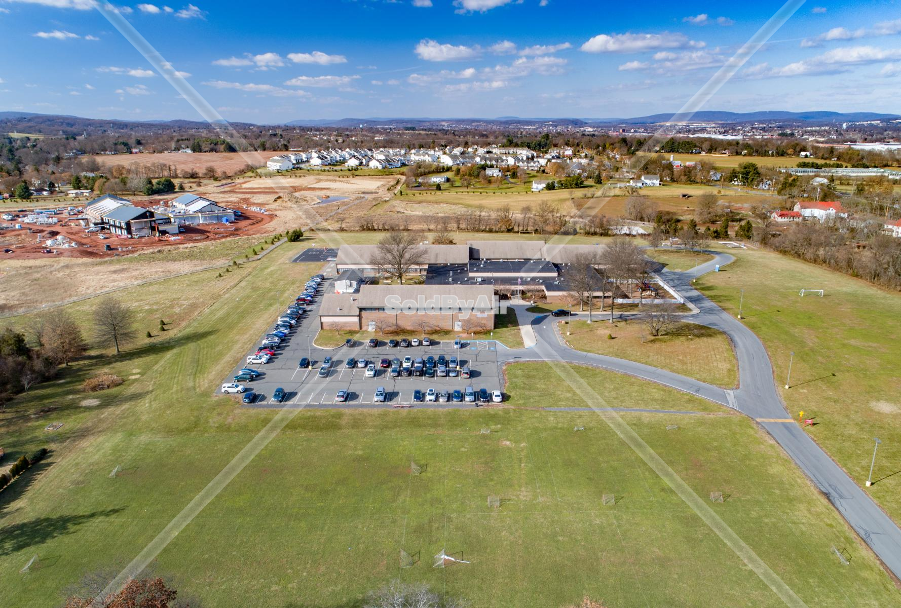 Drone Photo of East Conventry Elementary School in Pottstown Pennsylvania