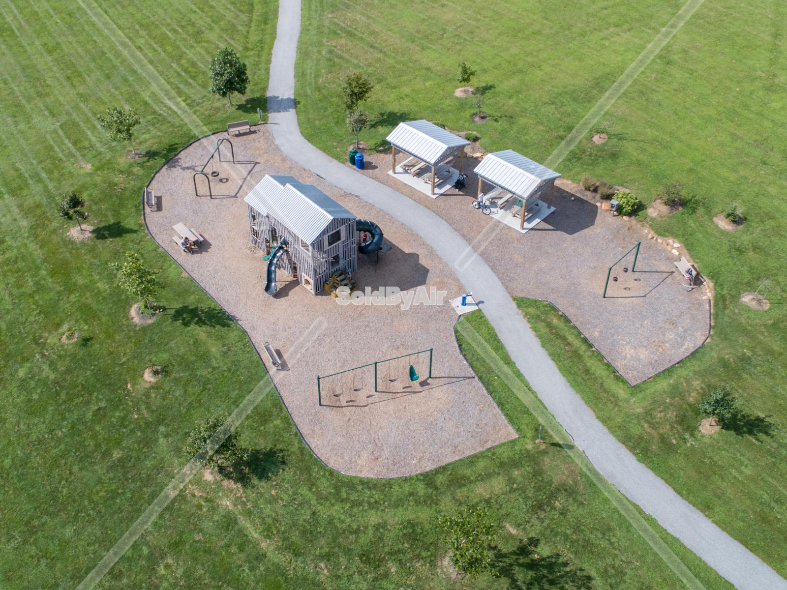 Drone Photo of Goddard Park Playground in West Grove Pennsylvania