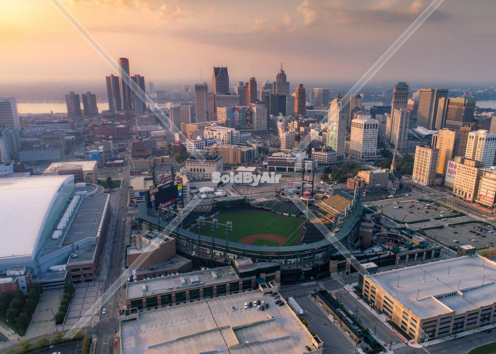 Drone Photo of Good morning Detroit in Detroit Michigan