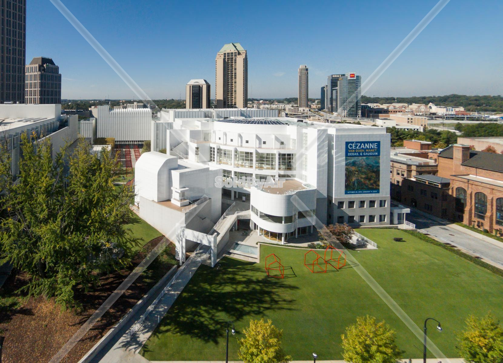 Drone Photo of High Museum of Art in Atlanta Georgia