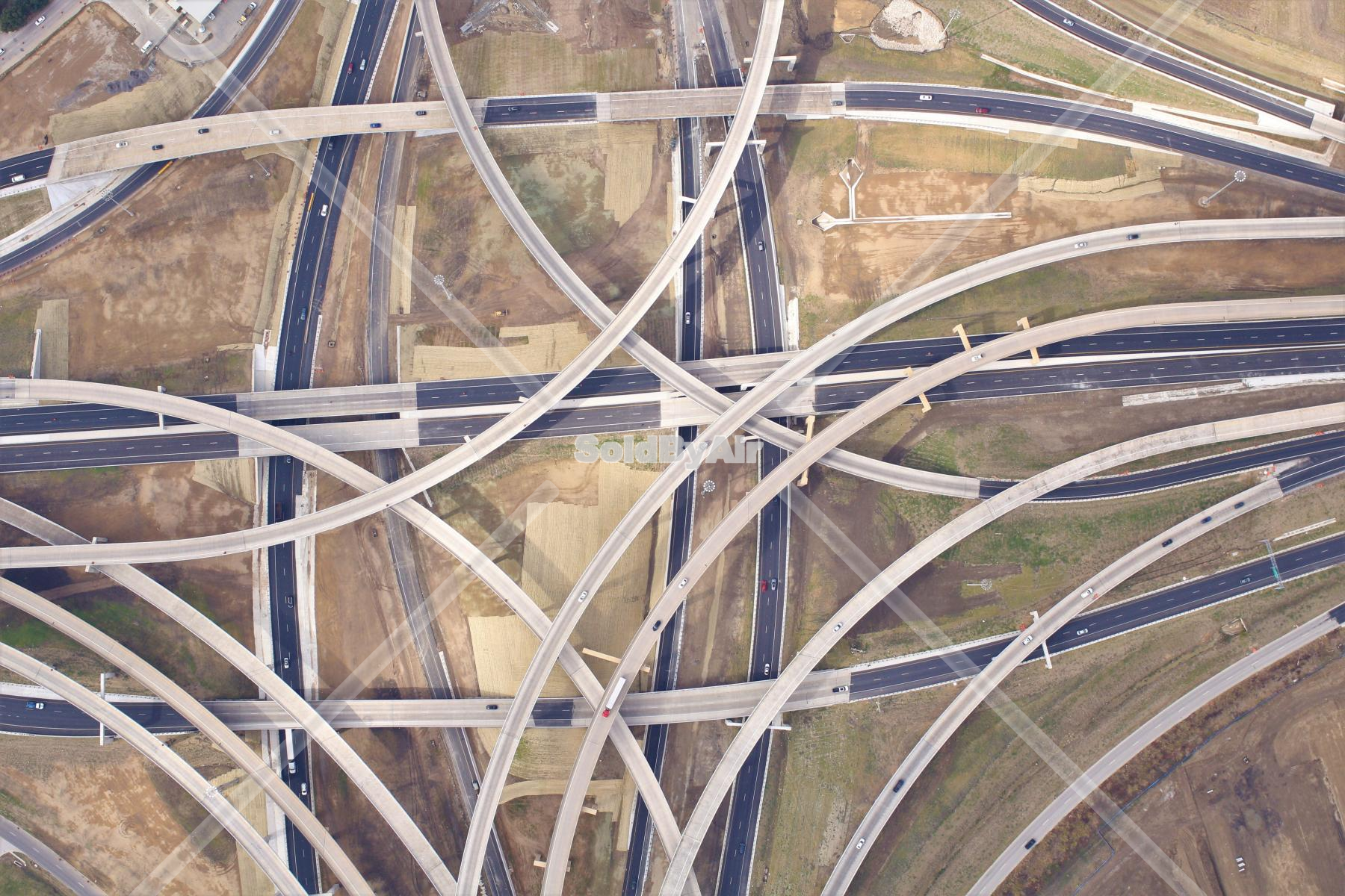 Drone Photo of I-35 and 820 Intersection in Fort Worth Texas