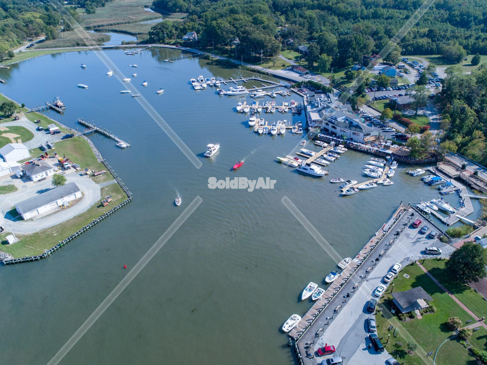 Drone Photo of Inn & Marina in Chesapeake City Maryland