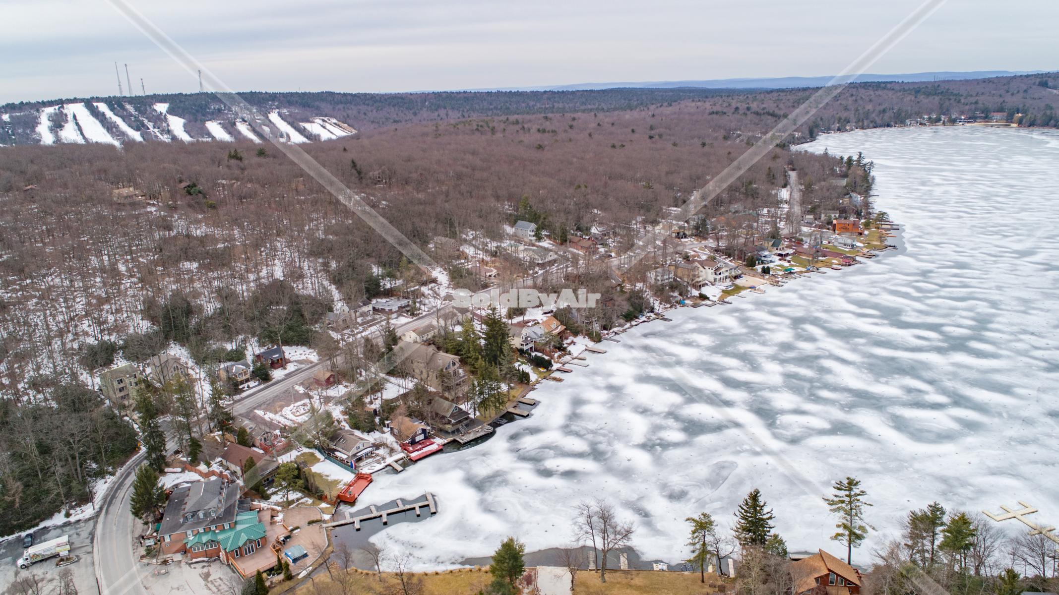 Drone Photo of Lake Harmony & Big Boulder in Lake Harmony Pennsylvania
