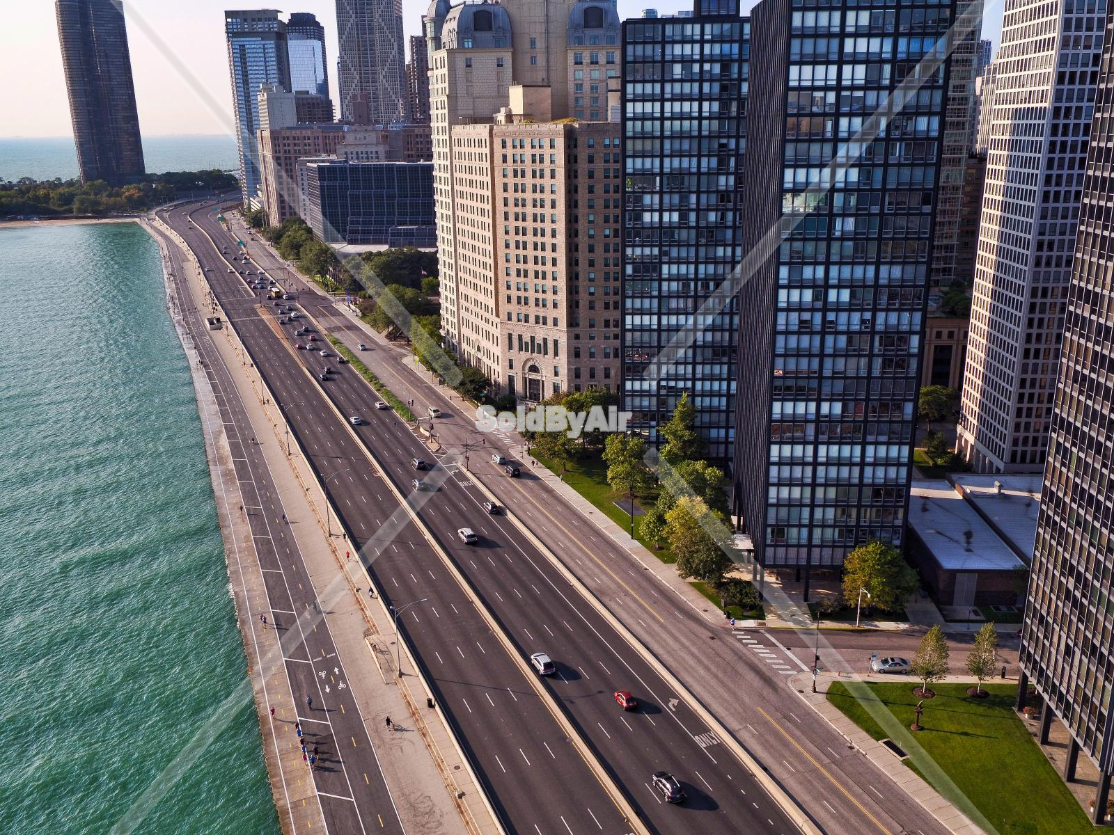 Drone Photo of Lake Shore Drive & Gold Coast in Chicago Illinois