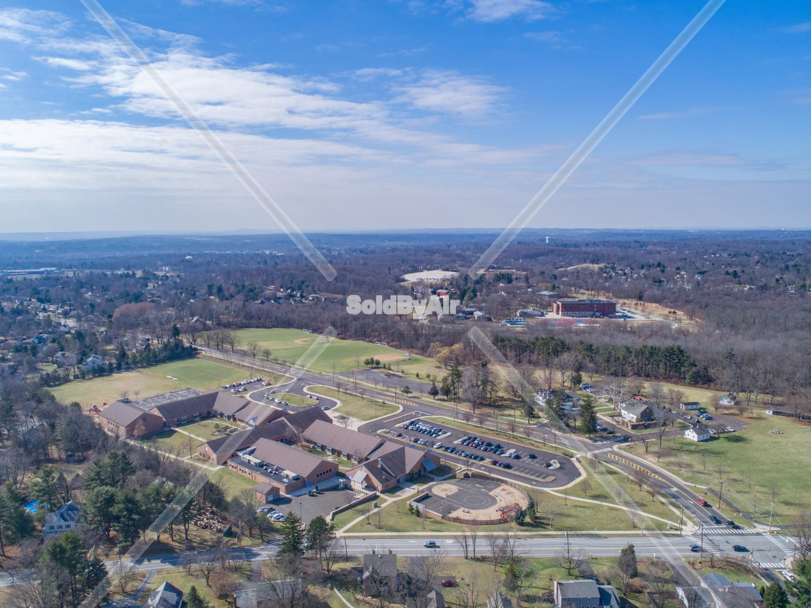 Drone Photo of Maple Glen Elementary School in Maple Glen Pennsylvania