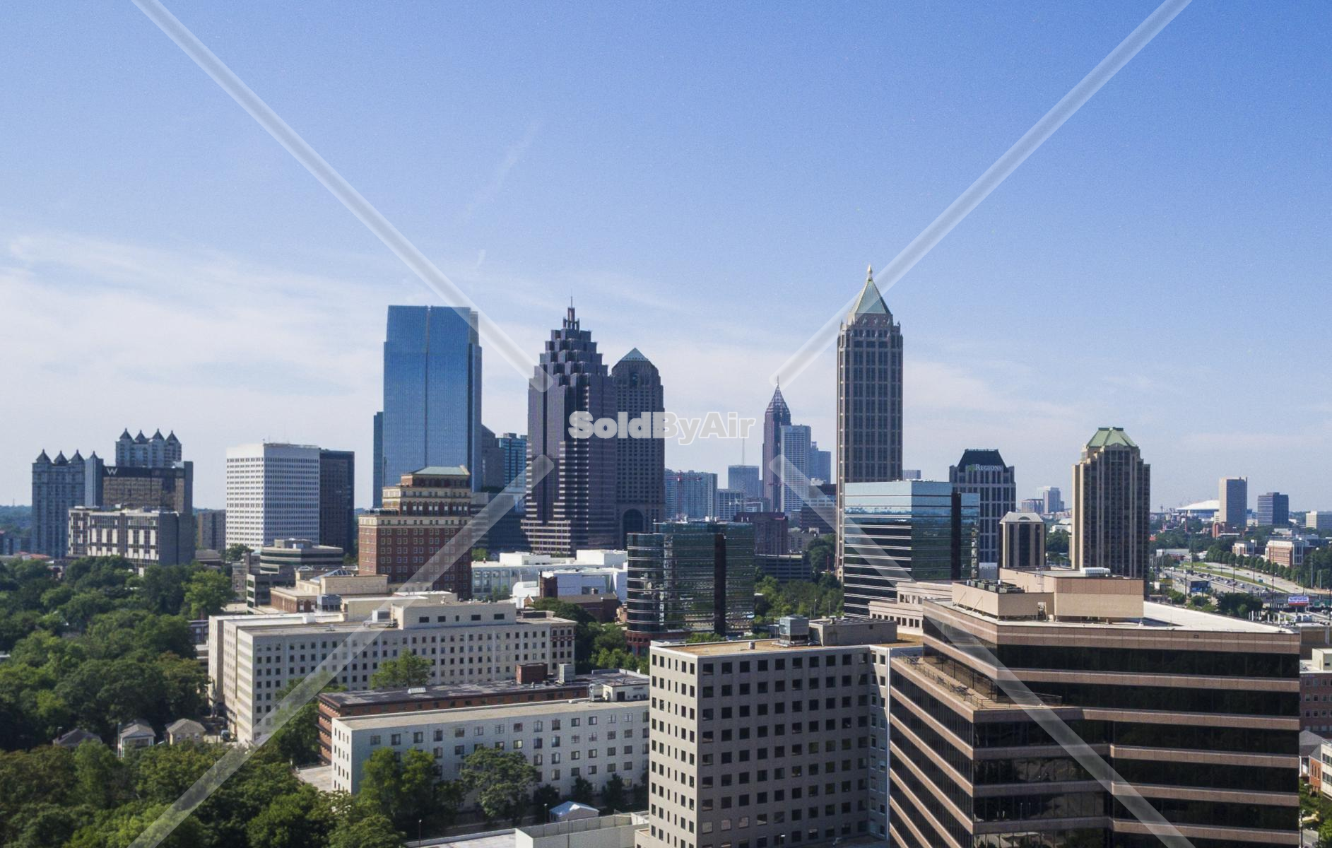 Drone Photo of Midtown, Atlanta, GA, United States in Atlanta Georgia