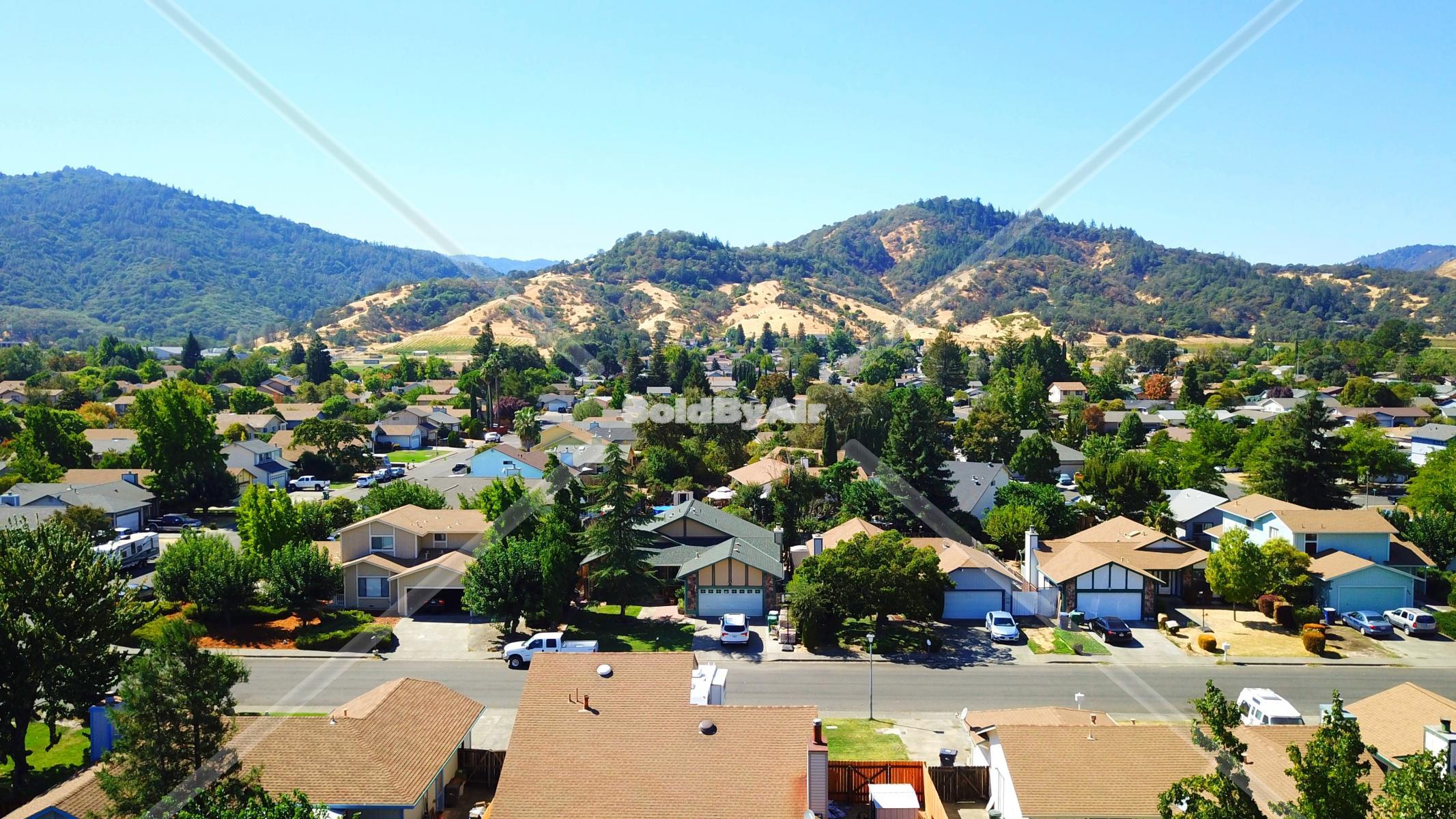 Drone Photo of Near Ukiah High School in Ukiah California