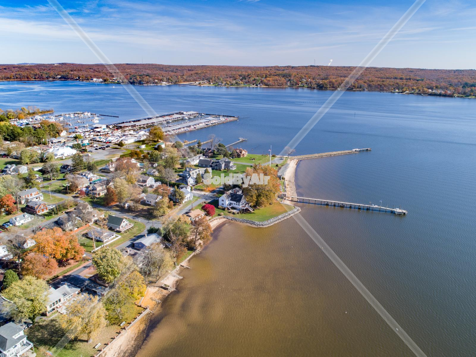 Drone Photo of North East River in Charlestown Maryland