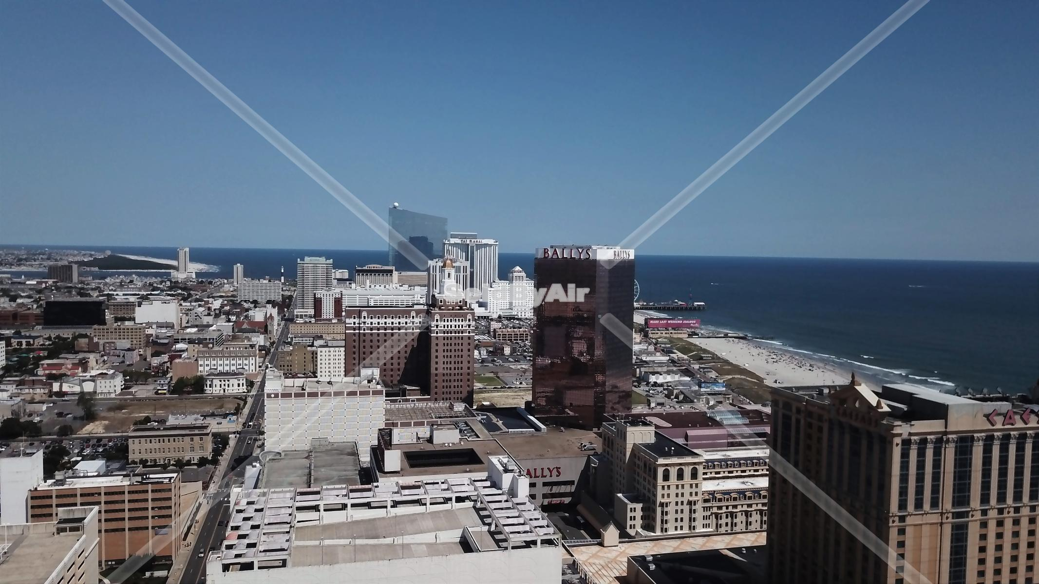 Drone Photo of Ocean front real estate in Atlantic City New Jersey