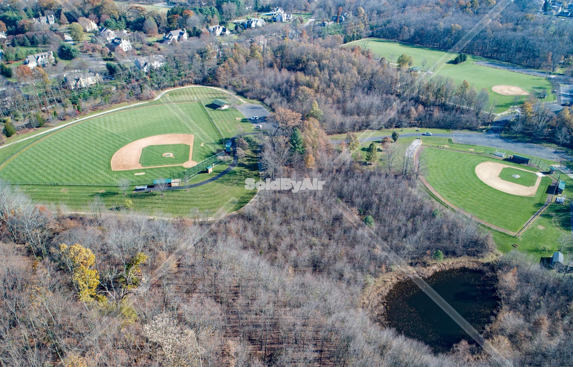 Drone Photo of Penllyn Woods in Lower Gwynedd Township Pennsylvania