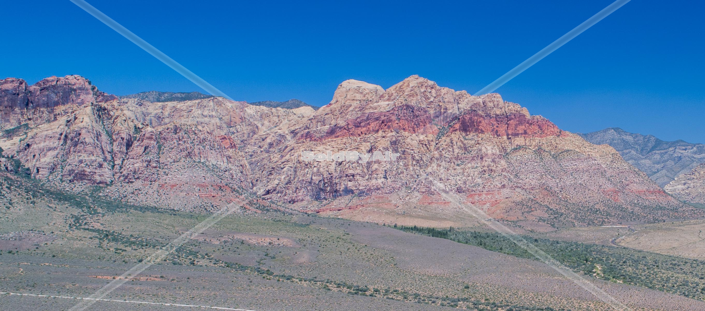 Drone Photo of Red Rock in Las Vegas Nevada