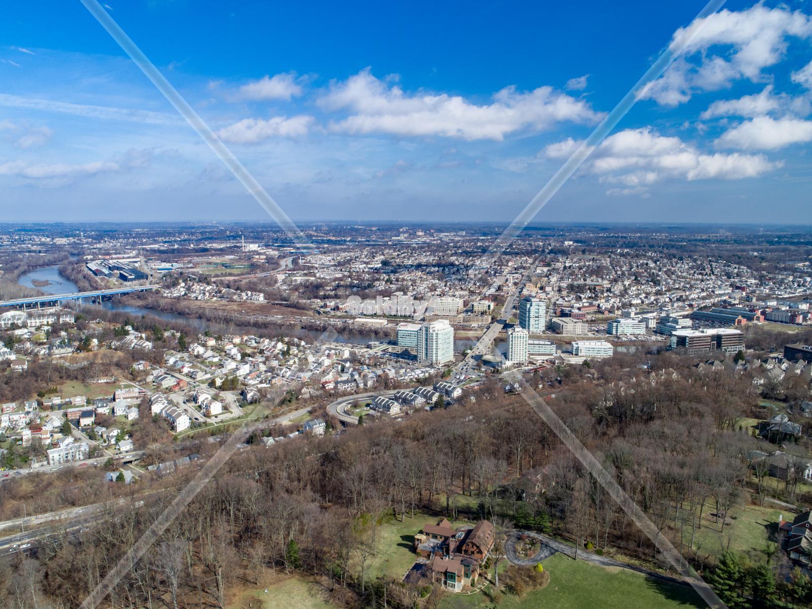Drone Photo of Skyline in Conshohocken Pennsylvania