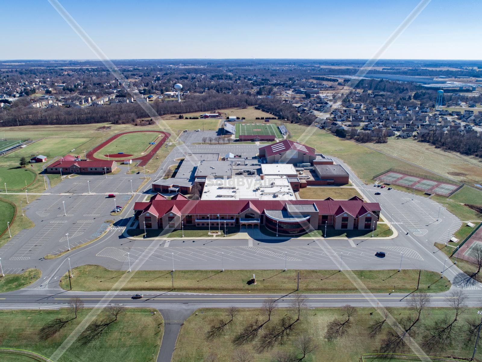 Drone Photo of Smyrna High School in Smyrna Delaware