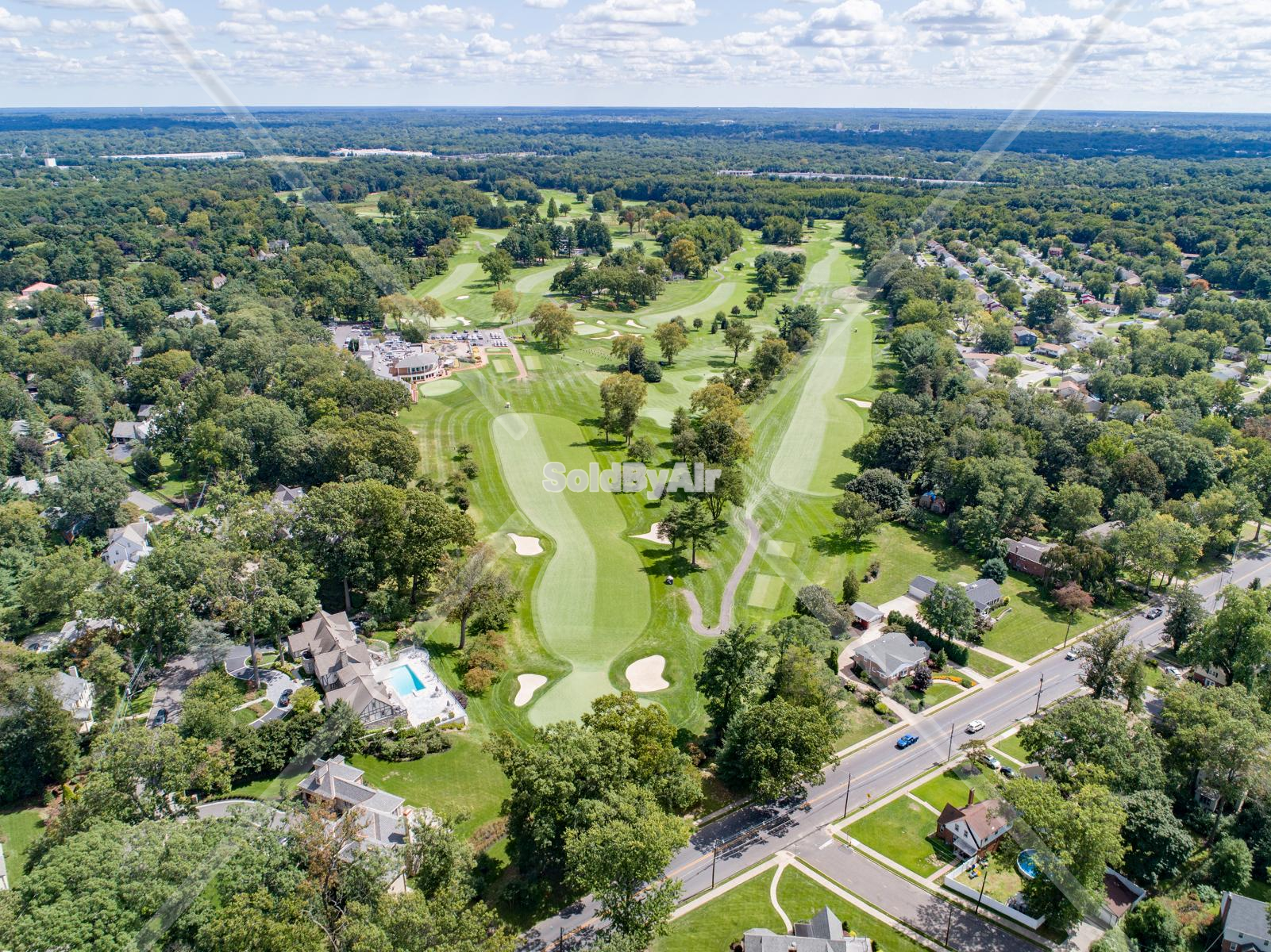 Drone Photo of Tavistock Country Club in Haddonfield New Jersey