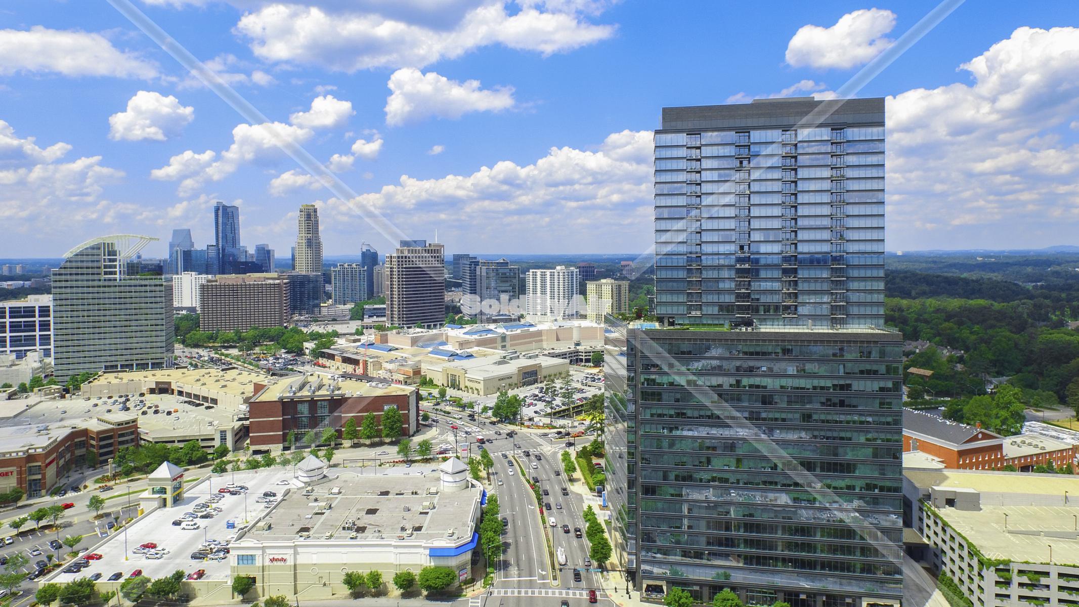 Drone Photo of The Ritz-Carlton, Atlanta, Atlanta, GA, United Sta in Atlanta Georgia
